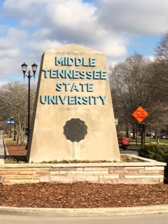 Murfreesboro Tennessee University MTSU Sign